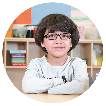 Eddie gets free glasses from Essilor Vision Foundation