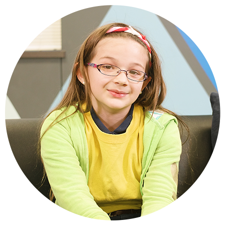 Rebecca gets free glasses from Essilor Vision Foundation