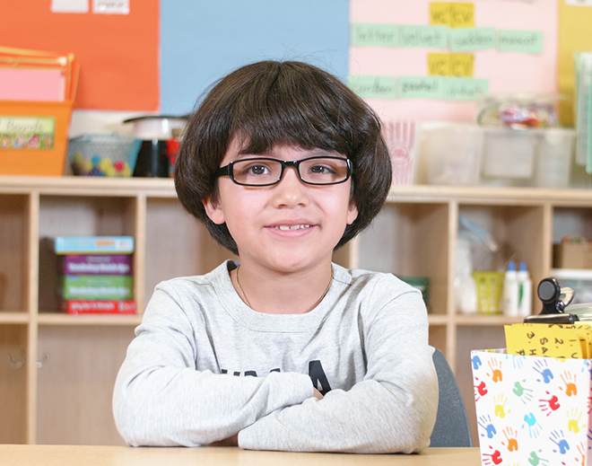 Eddie's free glasses helped his confidence at school