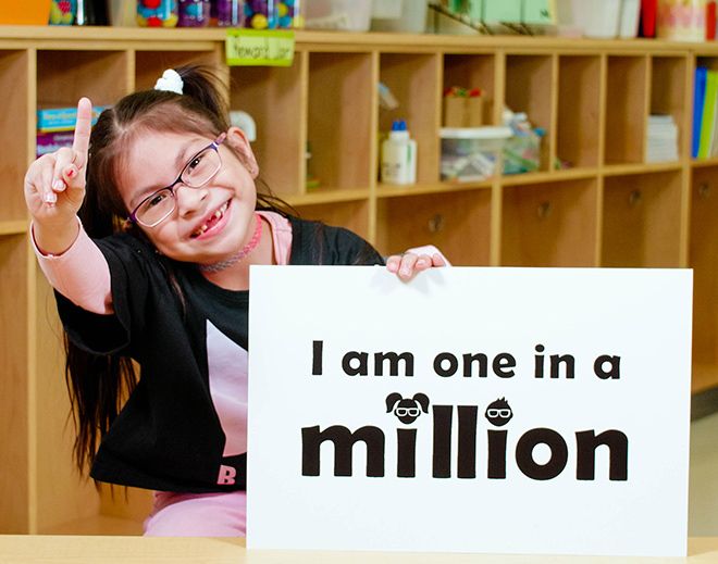 Khloe received the one-millionth pair of free glasses
