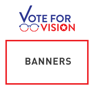Vote for Vision Banners